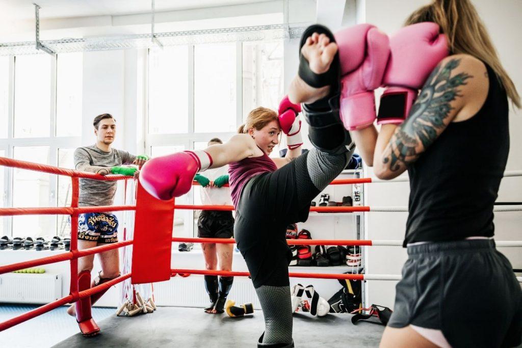 Women Fighting Muay Thai